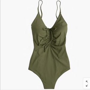 J. CREW Playa Laguna Ruched On-Piece Swimsuit XS